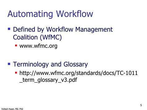 workflow management coalition feb 2009 my of wisconsin colloquim presentation