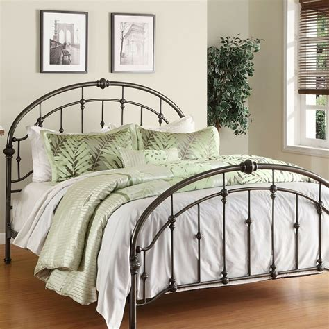 Metal Frame Bed by Metal Bed Frame Antique Pewter Steel Headboard Footboard