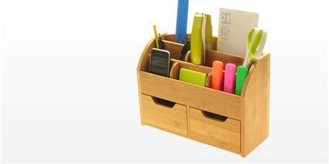 Office Desk Stationery Desk Stationery Box Wall Mounted Organiser Bamboo Office Suppliers