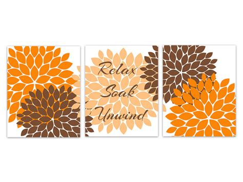 orange and brown bathroom accessories orange and brown bathroom wall decor bathroom by