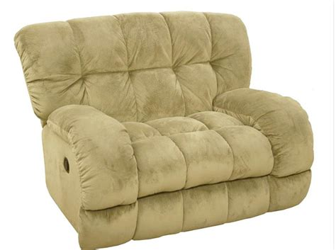 the cuddler recliner softie cuddler quot inch a way quot recliner in buff suede fabric