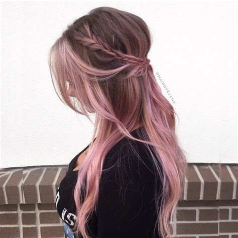 pink highlighted hair over 50 50 pink hair highlight ideas every girl should see style