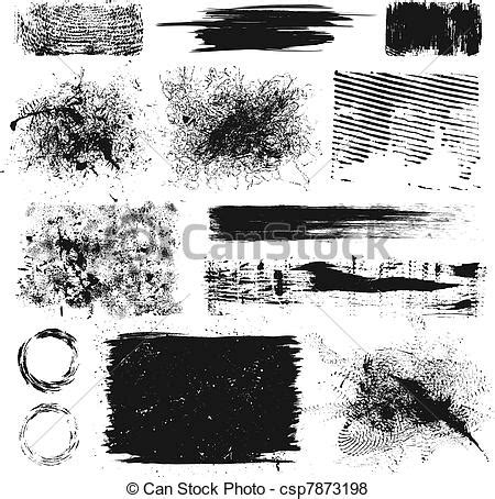 Grunge Design Elements Vector Free | vector of grunge design elements set of grunge paint