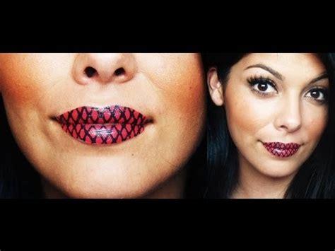 tattoo lips tutorial temporary lip tattoo tutorial youtube