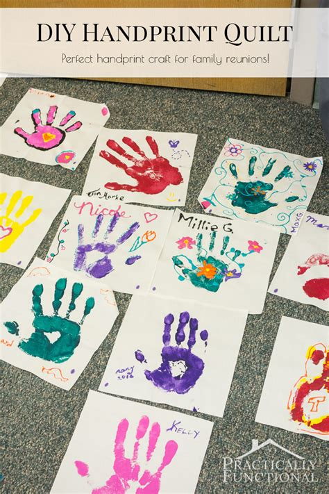 family craft for family reunion handprint crafts