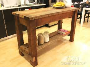 Kitchen Island Table Plans by White Gaby Kitchen Island Diy Projects