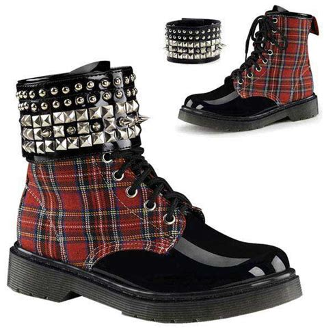 rage combat boots rage 106 plaid boots demonia boots and shoes