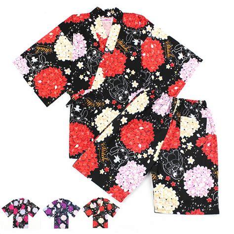 De Kimono Flower japanese cotton pajamas set shirt flower patterned kimono yukata japanese style