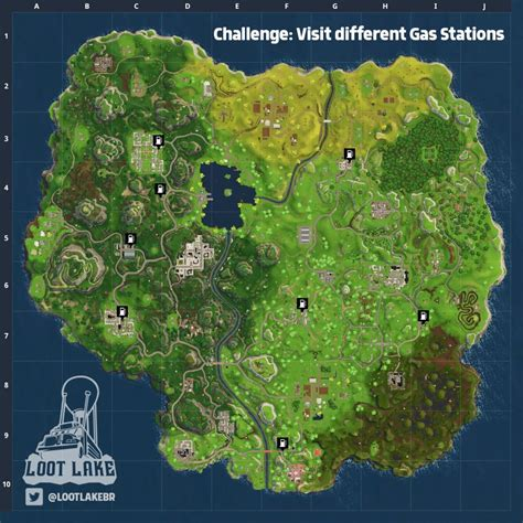 where fortnite letters are located fortnite anarchy acres treasure gas station locations