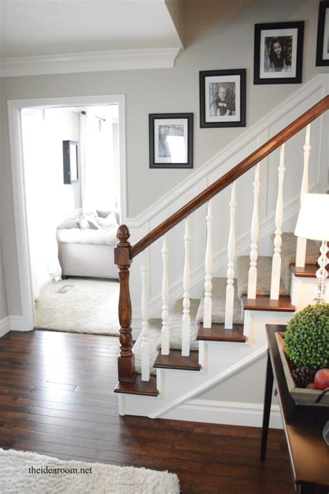 What Are Banisters by How To Stain An Oak Banister The Idea Room