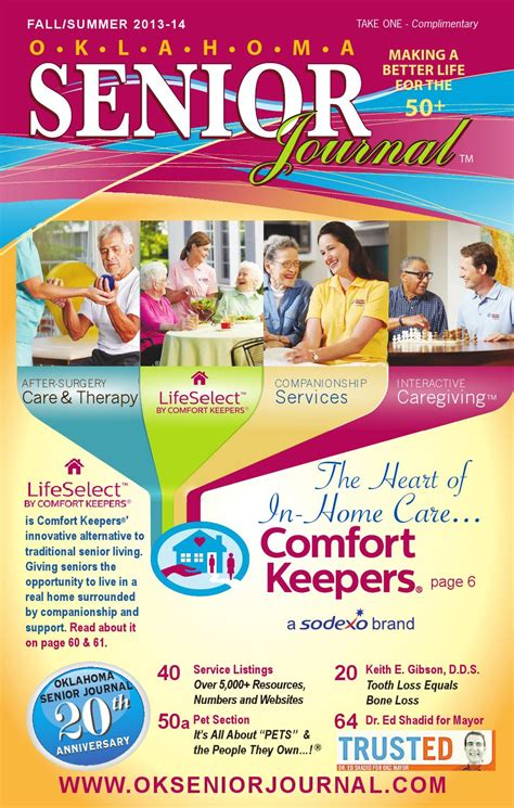 comfort keepers okc oklahoma senior journal fall summer2013 14 by robin gunn
