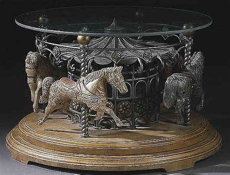 a carousel coffee table contemporary cast