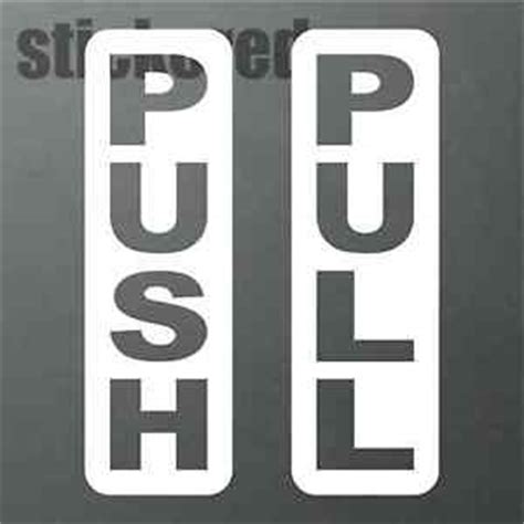 Push And Pull Signs For Glass Doors Push Pull Vinyl Stickers Decals Signs For Shop Door Glass Window Style 3 Ebay