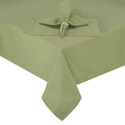 Green Canisters Kitchen Catalog Detail Hemstitch Sage Green Round Fabric