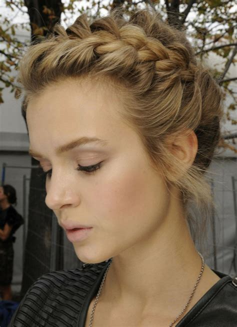 cute french braid hairstyle  prom women hairstyles