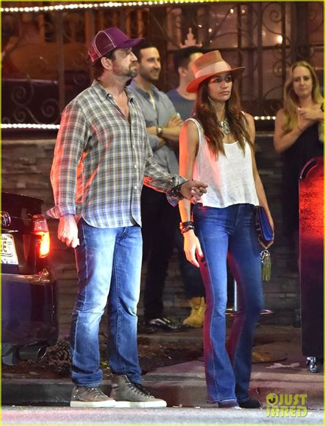 Len Wiseman Is A Grab by Gerard Butler Brown Hang Out With His Friend Len