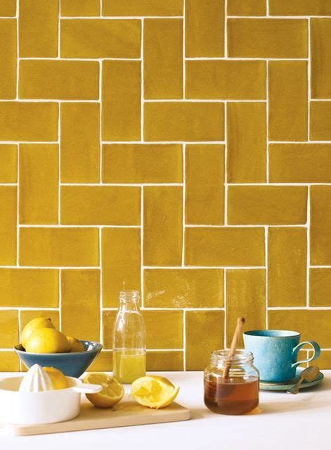 yellow kitchen tiles 25 best ideas about wall tiles on geometric