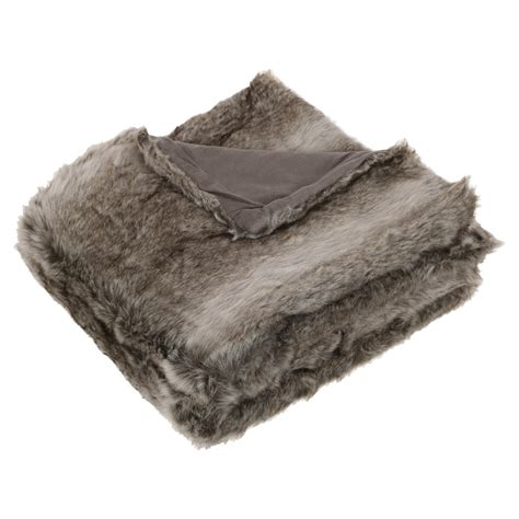 Plaid Fourrure Pas Cher 390 by Plaid Fourrure Gris Homemaison Vente En Ligne Plaid