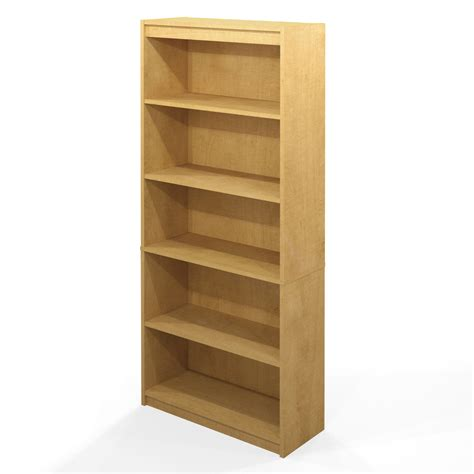 Built In Kitchen Designs by Fresh Bookcases Maple Finish 24044