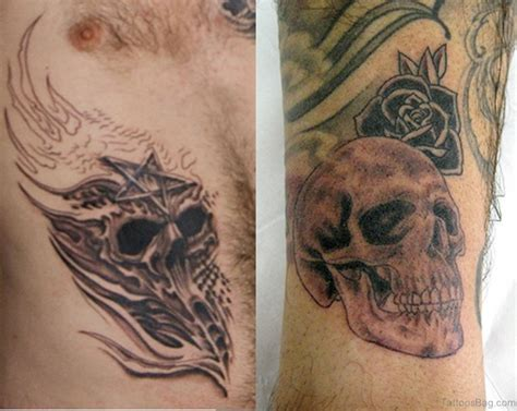 tattoos to go with roses 46 wonderful skull tattoos for shoulder