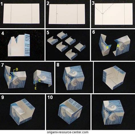 How To Make A Paper Cube - cube origami 171 embroidery origami