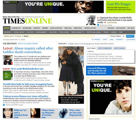 design news online newspaper website design trends and exles smashing