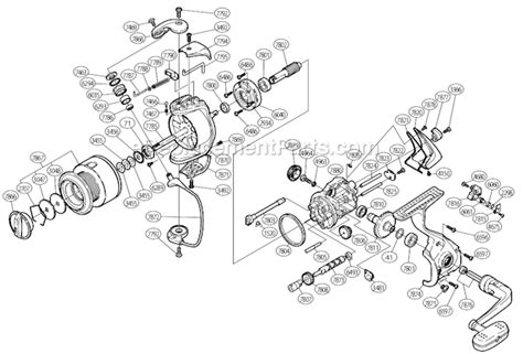 shimano stradic parts diagram shimano st 2500fh parts list and diagram