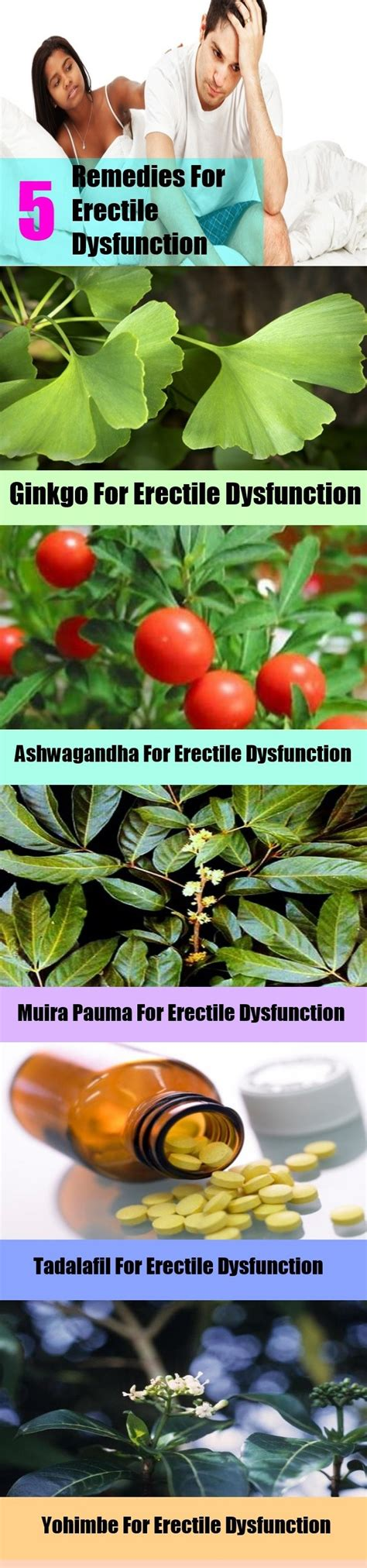 5 remedies for erectile dysfunction home remedies