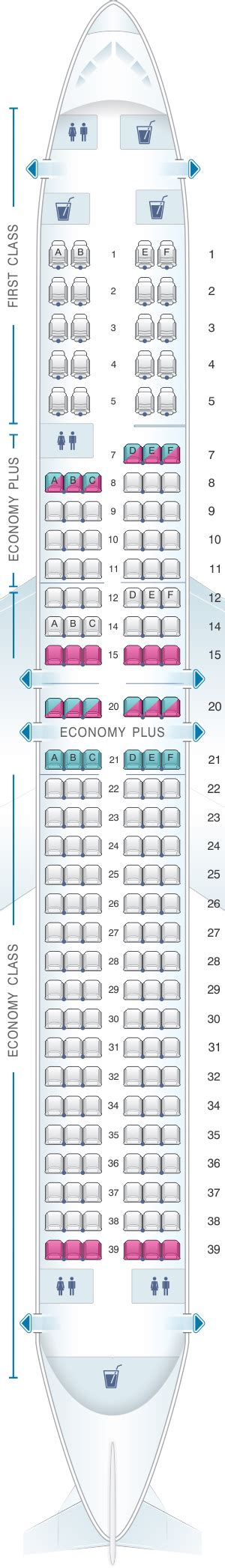 United Check In Baggage by Seat Map United Airlines Boeing B737 900 Version 3