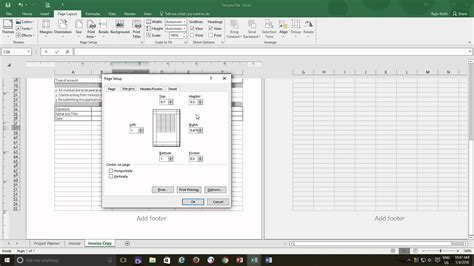 excel layout tab how to disable page setup in excel 2007 how to change
