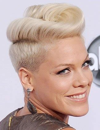 i love the way this hairstyle flips up in the back la pink s rockabilly inspired flip is a festive way to dress