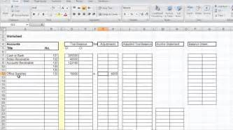 Account Sheet Template by Accountant L Picture Accounting Worksheet
