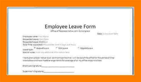 simple leaves application form template excel template