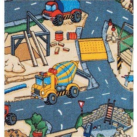Construction Play Rug by Learning Carpets Construction Play Rug