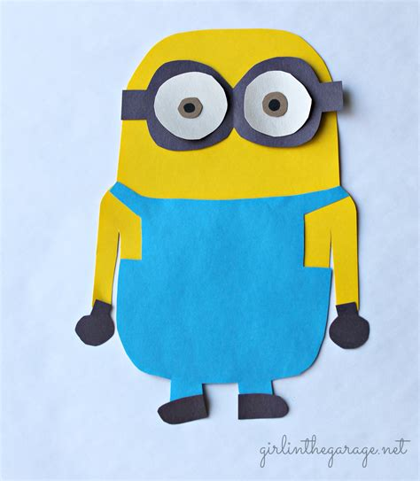 How To Make A Minion Out Of Construction Paper - make your own minion in the garage 174