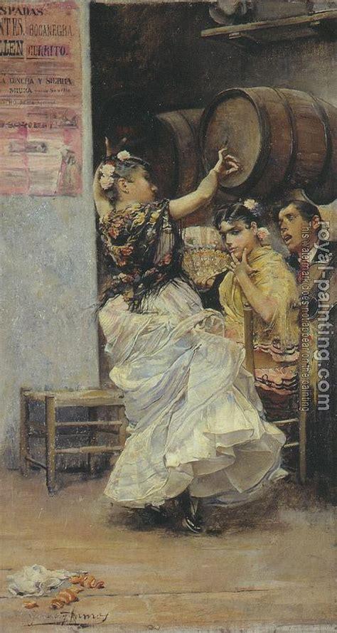 jose garcia ramos paintings baile por bulerias by jose garcia y ramos oil painting