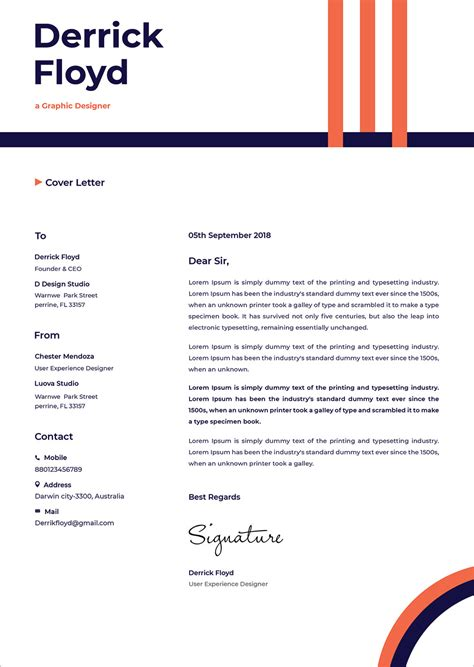 professional cv resume template cover letter
