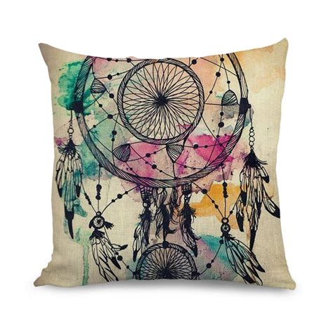 wholesale 18x18 inch cushion cover watercolour design