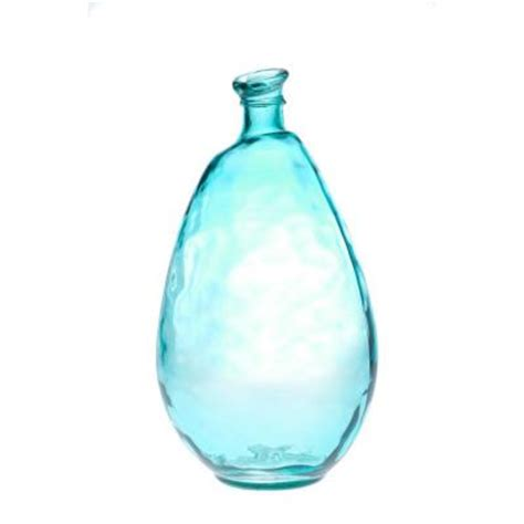 Glass Vase Depot by Home Decorators Collection Morph Aqua Glass Vase
