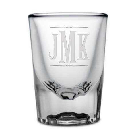 Personalized Monogrammed Shot Glass   Engraved Monogram