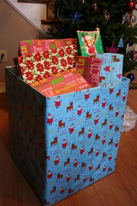 christmas gift wrap box for trash christmas ideas and
