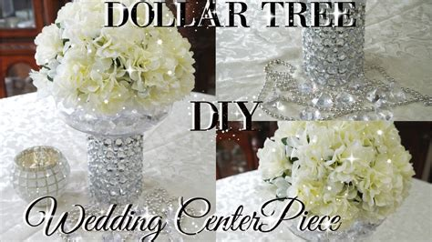 Table Floral Arrangements by Diy Dollar Tree Bling Floral Wedding Centerpiece 2017