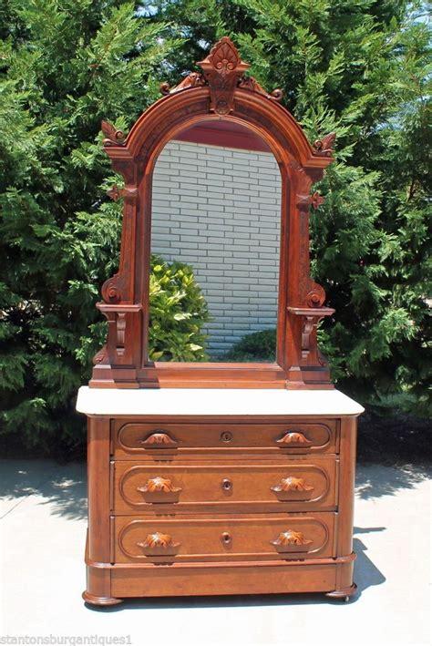 antique dresser with hidden drawer renaissance revival victorian walnut marble top dresser w