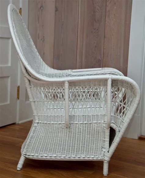 Fabulous Deco Style Seven Wicker Antique Deco Wicker Chairs At 1stdibs