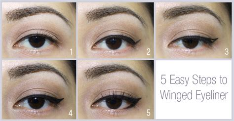 tutorial for top eyeliner winged eyeliner tutorial step by step style arena