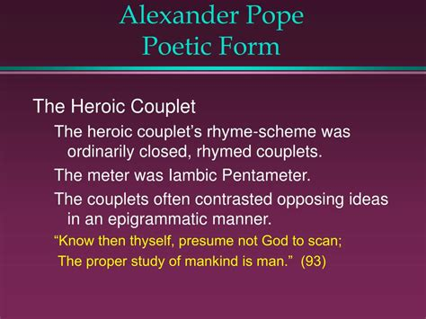 themes in pope s essay on man ppt alexander pope powerpoint presentation id 707165