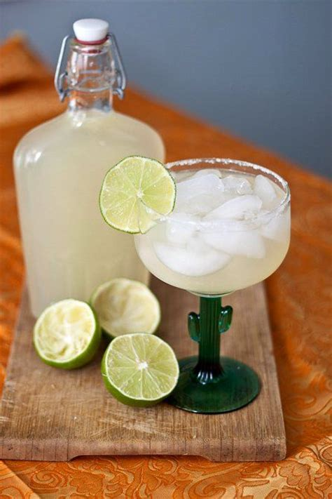 Handmade Margarita - diy margarita mix recipe silver tequila and