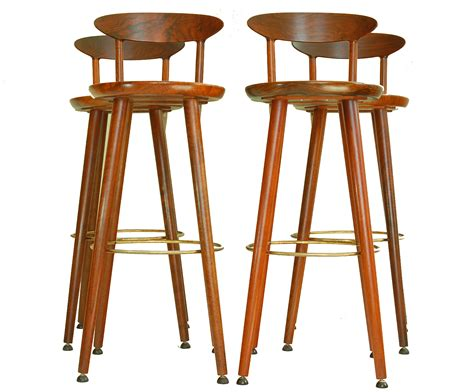 danish bar stools kurt 216 stervig teak danish bar stools set of 4 chairish