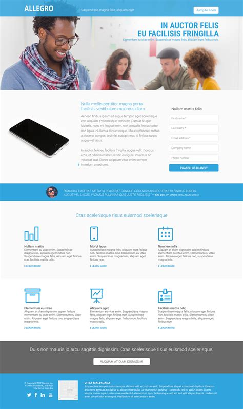 Responsive Marketo Email And Landing Page Templates Perkuto Landing Page Template
