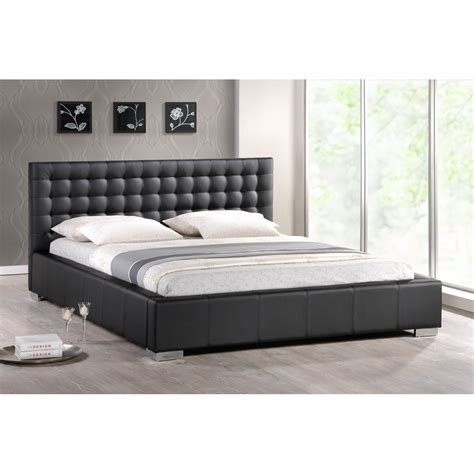 upholstered bed full size madison black modern bed with upholstered headboard full